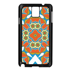 Digital Computer Graphic Geometric Kaleidoscope Samsung Galaxy Note 3 N9005 Case (Black)