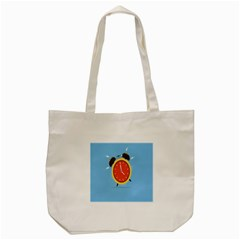Alarm Clock Weker Time Red Blue Tote Bag (cream)