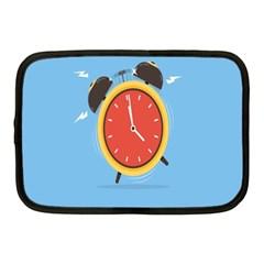 Alarm Clock Weker Time Red Blue Netbook Case (medium)