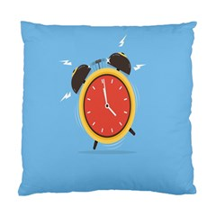 Alarm Clock Weker Time Red Blue Standard Cushion Case (One Side)