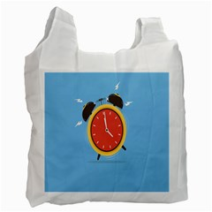 Alarm Clock Weker Time Red Blue Recycle Bag (Two Side)
