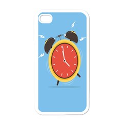 Alarm Clock Weker Time Red Blue Apple iPhone 4 Case (White)
