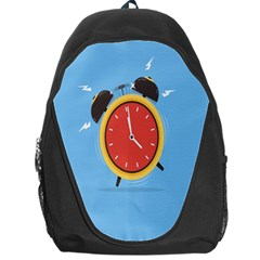 Alarm Clock Weker Time Red Blue Backpack Bag