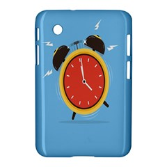 Alarm Clock Weker Time Red Blue Samsung Galaxy Tab 2 (7 ) P3100 Hardshell Case