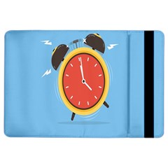 Alarm Clock Weker Time Red Blue iPad Air 2 Flip