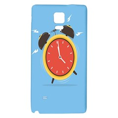 Alarm Clock Weker Time Red Blue Galaxy Note 4 Back Case
