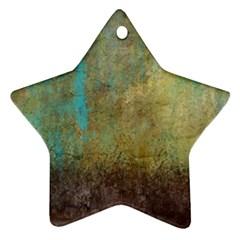 Aqua Textured Abstract Ornament (Star)