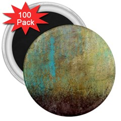 Aqua Textured Abstract 3  Magnets (100 pack)