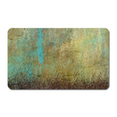 Aqua Textured Abstract Magnet (Rectangular)
