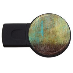 Aqua Textured Abstract USB Flash Drive Round (1 GB)