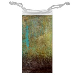 Aqua Textured Abstract Jewelry Bag