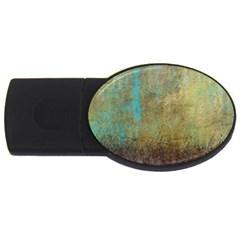 Aqua Textured Abstract Usb Flash Drive Oval (4 Gb)