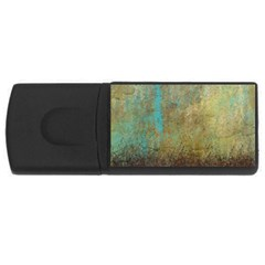 Aqua Textured Abstract Usb Flash Drive Rectangular (4 Gb)