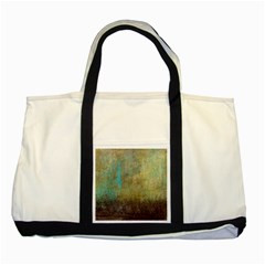 Aqua Textured Abstract Two Tone Tote Bag