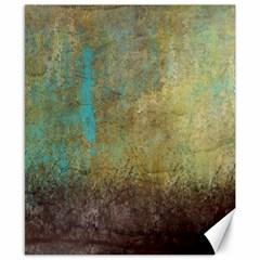 Aqua Textured Abstract Canvas 8  x 10