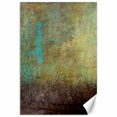 Aqua Textured Abstract Canvas 12  X 18
