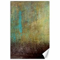 Aqua Textured Abstract Canvas 20  X 30