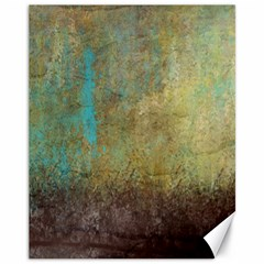 Aqua Textured Abstract Canvas 11  x 14