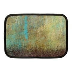 Aqua Textured Abstract Netbook Case (Medium)