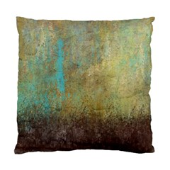 Aqua Textured Abstract Standard Cushion Case (two Sides)