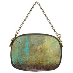 Aqua Textured Abstract Chain Purses (two Sides)