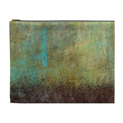 Aqua Textured Abstract Cosmetic Bag (XL)