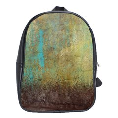 Aqua Textured Abstract School Bags(Large)