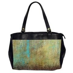 Aqua Textured Abstract Office Handbags (2 Sides)