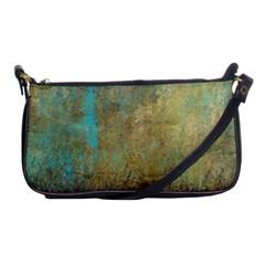 Aqua Textured Abstract Shoulder Clutch Bags