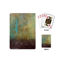 Aqua Textured Abstract Playing Cards (Mini)