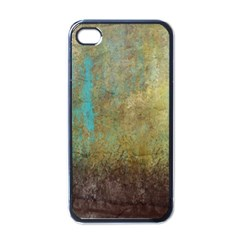 Aqua Textured Abstract Apple Iphone 4 Case (black)