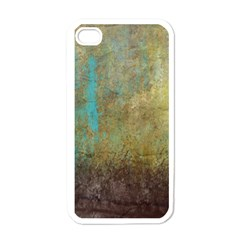 Aqua Textured Abstract Apple iPhone 4 Case (White)