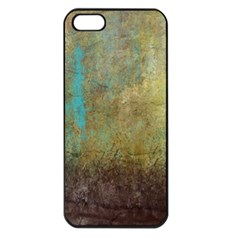Aqua Textured Abstract Apple Iphone 5 Seamless Case (black)