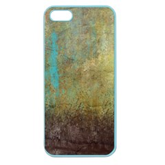 Aqua Textured Abstract Apple Seamless Iphone 5 Case (color)