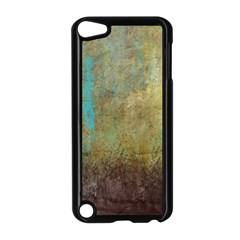 Aqua Textured Abstract Apple Ipod Touch 5 Case (black)
