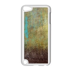Aqua Textured Abstract Apple iPod Touch 5 Case (White)