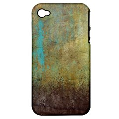 Aqua Textured Abstract Apple Iphone 4/4s Hardshell Case (pc+silicone)