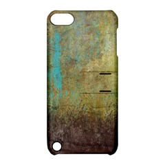 Aqua Textured Abstract Apple Ipod Touch 5 Hardshell Case With Stand