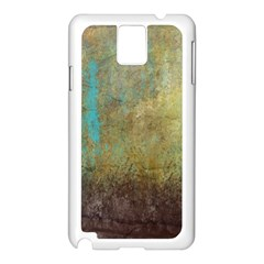 Aqua Textured Abstract Samsung Galaxy Note 3 N9005 Case (White)