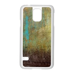 Aqua Textured Abstract Samsung Galaxy S5 Case (White)
