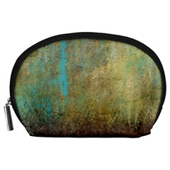Aqua Textured Abstract Accessory Pouches (Large)
