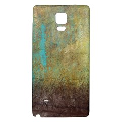 Aqua Textured Abstract Galaxy Note 4 Back Case