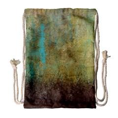 Aqua Textured Abstract Drawstring Bag (large)