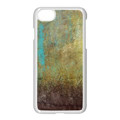 Aqua Textured Abstract Apple Iphone 7 Seamless Case (white)