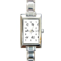Set Of Black Web Dings On White Background Abstract Symbols Rectangle Italian Charm Watch