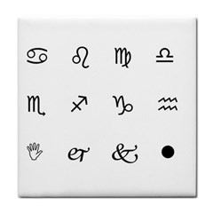 Set Of Black Web Dings On White Background Abstract Symbols Tile Coasters