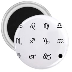 Set Of Black Web Dings On White Background Abstract Symbols 3  Magnets