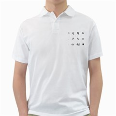 Set Of Black Web Dings On White Background Abstract Symbols Golf Shirts
