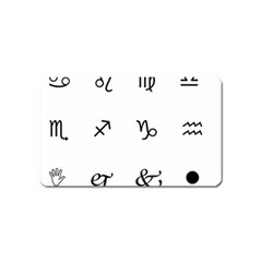 Set Of Black Web Dings On White Background Abstract Symbols Magnet (Name Card)