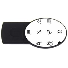 Set Of Black Web Dings On White Background Abstract Symbols Usb Flash Drive Oval (2 Gb)